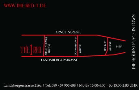 Hier findest du uns The Red 1 - Landsbergerstr. 216a, München-Laim